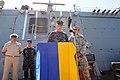 Cmdr. David Bretz, USS Jason Dunham and Denis Berezovsky 2012.jpg
