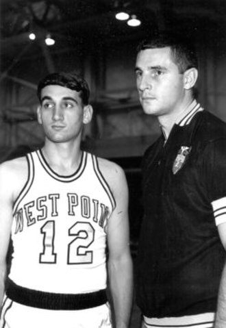 Bob Knight - Army point-guard Mike Krzyzewski and Coach Knight, circa 1968