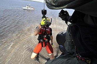Rescue swimmer - U.S. Coast Guard Helicopter Rescue Swimmer