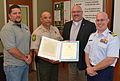 Coast Guard presents award to Illinois Department of Natural Resources for partnership during Fish Barrier operations 130618-G-PL299-006.jpg