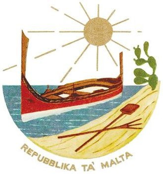 Coat of arms of Malta - Coat of Arms of Malta from 1975 to 1988