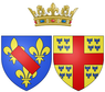 Coat of arms of Charlotte Marguerite de Montmorency as Princess of Condé.png