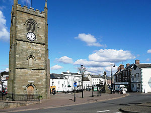 Coleford, Gloucestershire - Image: Coleford Market Place geograph.org.uk 743937 edit