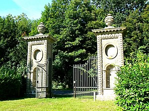 Coleshill House - Two of the surviving gate piers