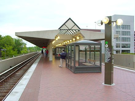 College Park-University of Maryland Metro station provides easy and quick access to Downtown, Washington, D.C. College Park-U of Md Station.jpg