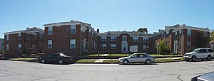 National Register of Historic Places listings in Jasper County, Missouri - Image: Colonial Apts Carthage