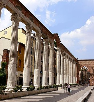 Milan - Roman ruins in Milan: the Columns of San Lorenzo