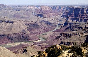 Colorado River in the Grand Canyon from Desert...