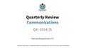 Communications Q4 2015 Quarterly Review and Workflows.pdf