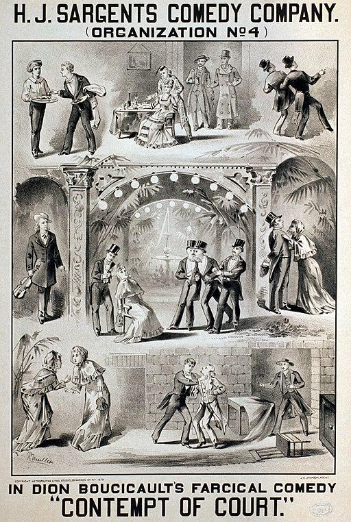 Contempt of Court 1879 poster