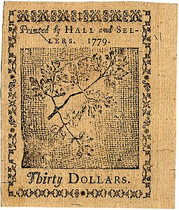 Continental Currency $30 banknote reverse (January 14, 1779).jpg