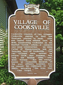 Cooksville, Wisconsin - plaque.jpg