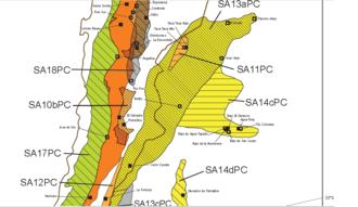 El Salvador mine - Location of the El Salvador and Potrerillos copper mines in Chile