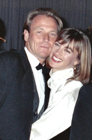 Amanda Pays - Pays and husband Corbin Bernsen at 1990 Emmy Awards Governor's Ball