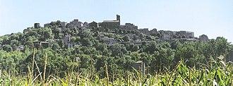Cordes-sur-Ciel - Cordes seen from the valley