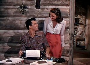 Leave Her to Heaven - Cornel Wilde and Gene Tierney in a scene from the film