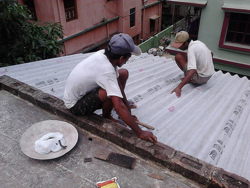 File Corrugated Asbestos Sheet Roofing Howrah 2011 07 10