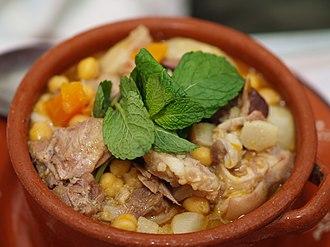Cocido - Portuguese cozido de grão (chickpea cozido)