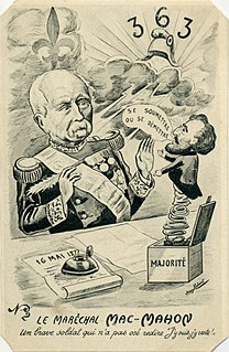 16 May 1877 crisis Constitutional crisis in the French Third Republic