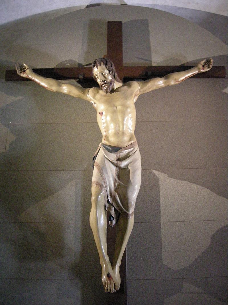 Распятие из истории о Донателло и Брунеллески; оно находится в церкви Санта-Кроче.