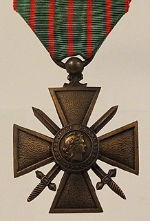 <i>Croix de Guerre</i> class of French military award