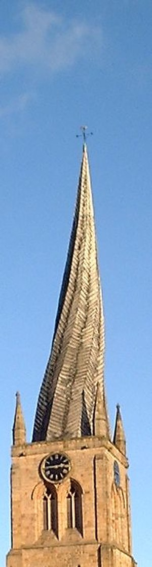 Church of St Mary and All Saints, Chesterfield - The spire