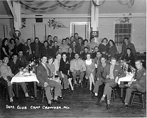 Fort Crowder - Sergeant's Club at Camp Crowder.