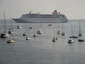 Cruise ship in Villefranche harbour.jpg