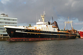 Factory ship - The Polish factory trawler Wiesbaden