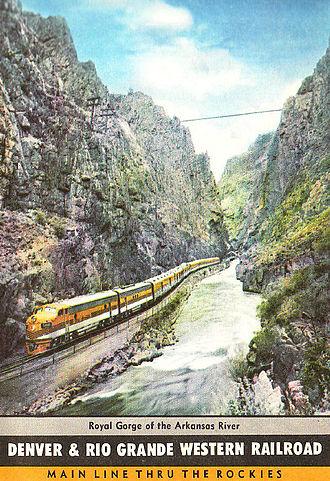 Royal Gorge Route Railroad - Image: D&RGW RR Train 1