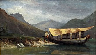 Massimo d'Azeglio - M. d'Azeglio:Life on the lake with a boat