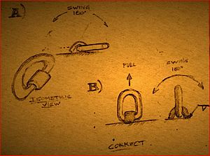 D-ring - Image: D Ring&Weld on Pivot Link