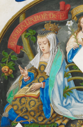 Eleanor of Aragon, Queen of Portugal - Queen Leonor in Genealogia dos Reis de Portugal (António de Holanda; 1530-1534)