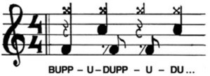 D-beat - the 'D-Beat' in musical notation