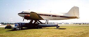 Edo Aircraft Corporation - DC-3 on amphibious EDO floats. Sun-n-Fun 2003, Lakeland, Florida