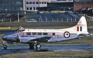 De Havilland Dove - RNZAF Devon C.1 of 42 Squadron at Wellington Airport in 1971