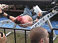 DJ Hyde thrown on a barbed wire bed.jpg