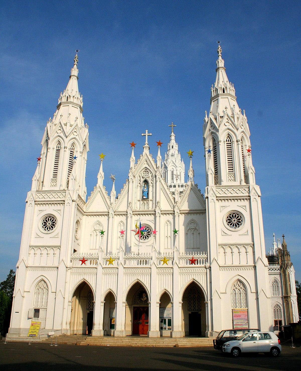 catholic basilica thrissur malabar syro lady dolours churches church eastern tallest front lazer joseph wikipedia dpp