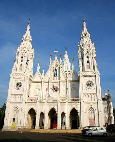 The Basilica of Our Lady of Dolours (of the Syro-Malabar Church) is the largest Eastern Catholic Basilica and the third-tallest tower in Asia. DPP 017 by Joseph Lazer.JPG