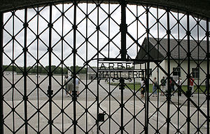 The Holy Bible (album) - One of the inspirations for the lyrics on the album was a band visit to Dachau concentration camp. A photograph of this gate features in the album's artwork.