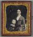 Daguerreotype. Portrait of a woman with a child..jpg