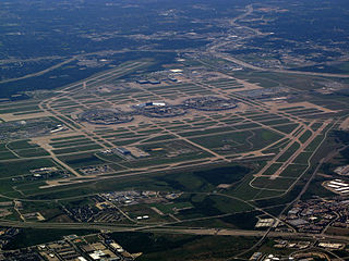 Airport in Irving serving the Dallas-Fort Worth metro area in Texas, US