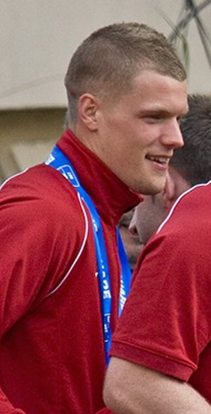 Danny Pilkington - Pilkington with the victory parade that followed York City's victory in the 2012 Conference Premier play-off Final