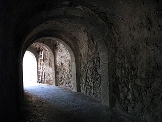 Ottoman–Venetian War (1714–1718) - Dante's Gate in Spinalonga fort, the last remaining Venetian outpost on Crete