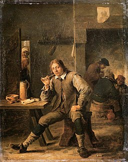 David Teniers (II) - Smoker Leaning his Elbow on a Table - WGA22080