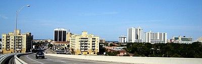 Daytona Beach Skyline, from the Seabreeze Bridge, 2007