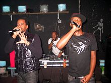 dead prez performing in Lansing, Michigan on December 13, 2009.