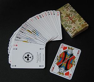 Deck of cards used in the game piquet