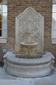 Decorative terracotta fountain on the facade of the Faust Hotel in New Braunfels, Texas, near San Antonio LCCN2014632006.tif