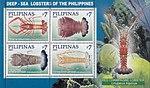 Deep-sea lobsters 2009 stampsheet of the Philippines.jpg